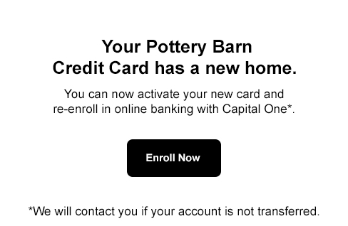 Pottery Barn Credit Card - Home