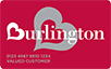 Burlington logo card