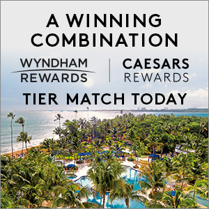 A winning combination. Wyndham Rewards and Caesars Rewards. Tier match today.