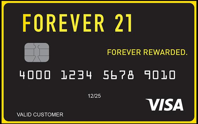 forever 21 visa credit card manage your account. Black Bedroom Furniture Sets. Home Design Ideas