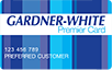 Gardner-White logo card