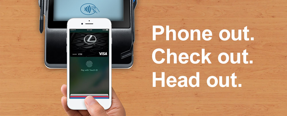 Lexus Pursuits Visa® Apple Pay