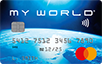 My World logo card