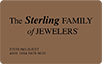 Sterling Family of Jewelers logo card
