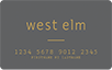 west elm logo card